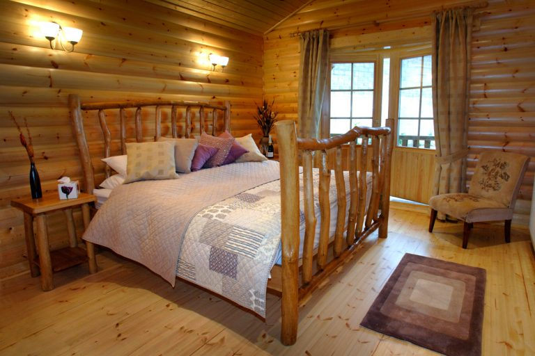 Super King Size 'fairytale' Hand-Crafted Log Bed